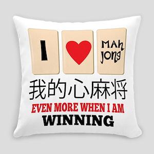 Mah Jong & WInning Everyday Pillow