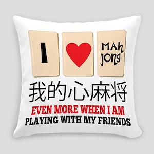Mah Jong & Friends Everyday Pillow