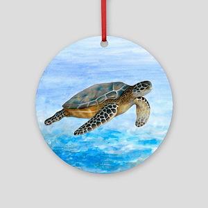 Turtle 1 Round Ornament
