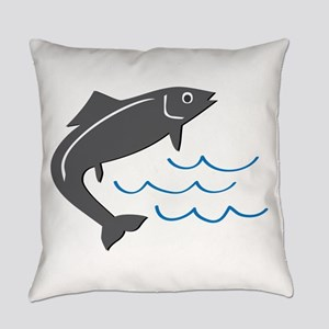 Jumping Fish Everyday Pillow
