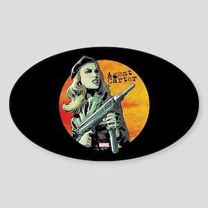 Agent Carter Machine Gun Sticker (Oval)