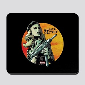 Agent Carter Machine Gun Mousepad