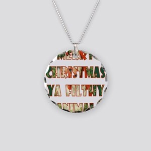 merry christmas ya filthy an Necklace Circle Charm