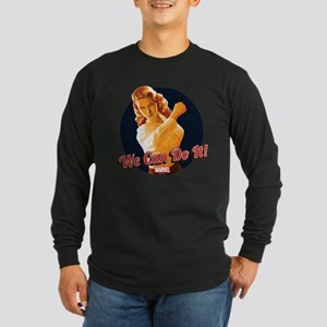 Agent Carter We Can Do It Long Sleeve Dark T-Shirt