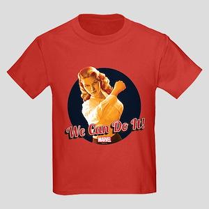 Agent Carter We Can Do It Kids Dark T-Shirt