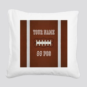 Personalized Football Boys Square Canvas Pillow