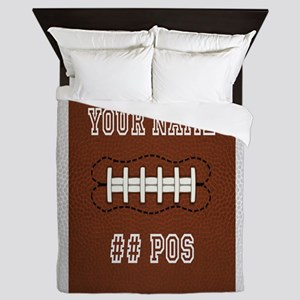 Personalized Football Boys Queen Duvet