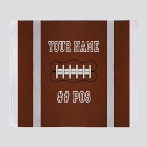 Personalized Football Boys Throw Blanket