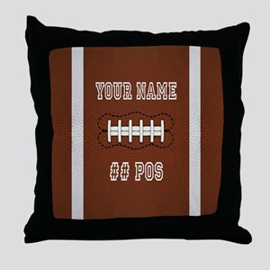 Personalized Football Boys Throw Pillow