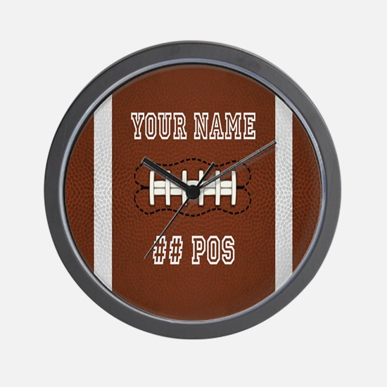 Personalized Football Boys Wall Clock