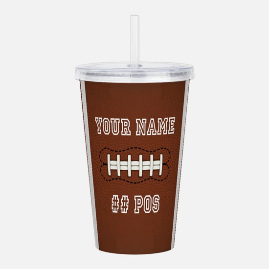 Personalized Football Boys Acrylic Double-wall Tum