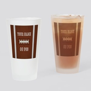 Personalized Football Boys Drinking Glass