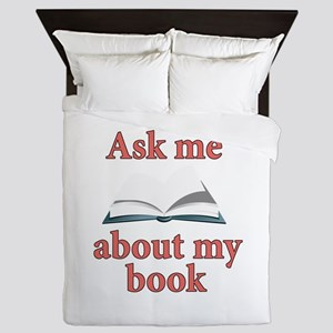 Ask Me About My Book Queen Duvet