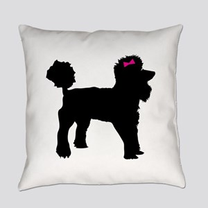 Black Poodle Everyday Pillow