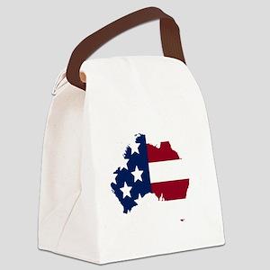 Australian American Canvas Lunch Bag