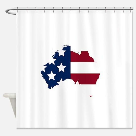 Australian American Shower Curtain