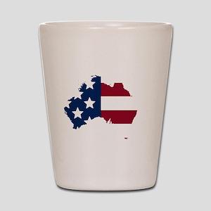 Australian American Shot Glass