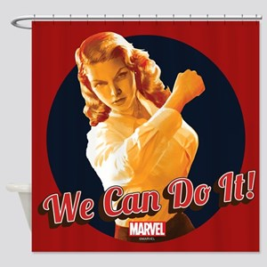 Agent Carter We Can Do It Shower Curtain