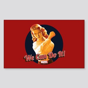 Agent Carter We Can Do It Sticker (Rectangle)