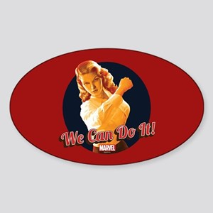Agent Carter We Can Do It Sticker (Oval)