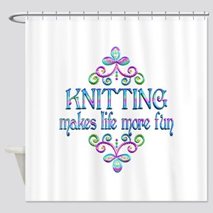 Knitting Fun Shower Curtain