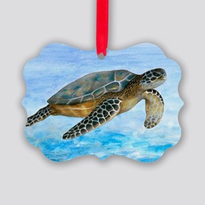 Turtle 1 Picture Ornament