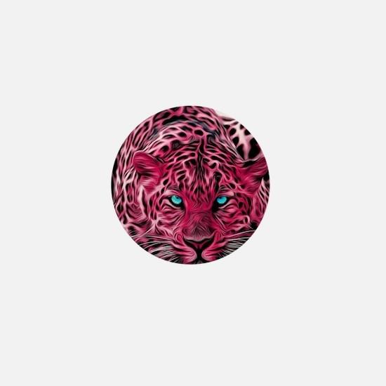 Funny Leopard Mini Button