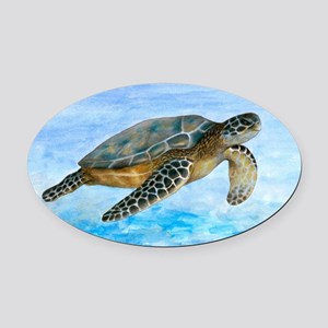 Turtle 1 Oval Car Magnet