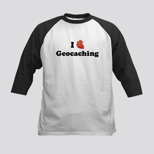 I (Heart) Geocaching Kids Baseball Jersey