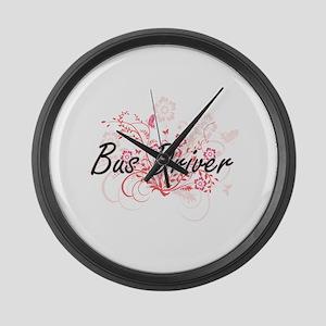 Bus Driver Artistic Job Design wi Large Wall Clock