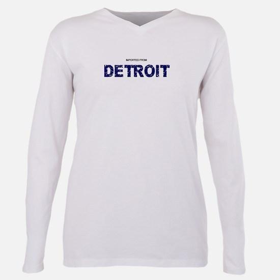 Cute Detroit Plus Size Long Sleeve Tee