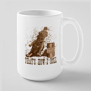 Barrel racing horse. Roll. Large Mug