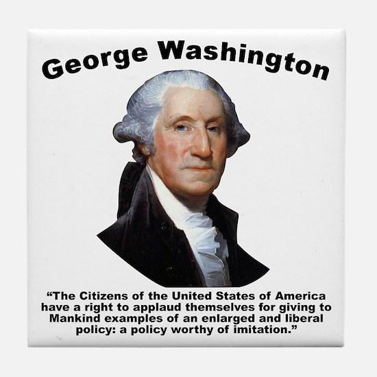 Washington: GovForm Tile Coaster