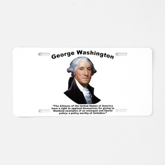 Washington: GovForm Aluminum License Plate