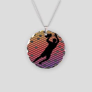 Soccer Goalie Keeper Art Sunset Necklace