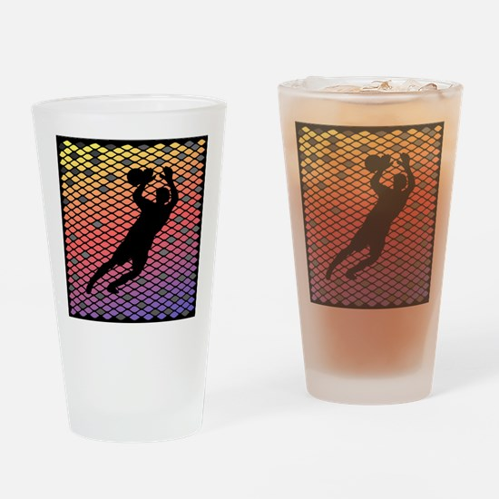 Soccer Goalie Keeper Art Sunset Drinking Glass