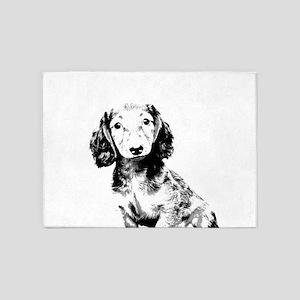 Dachshund puppy 5'x7'Area Rug