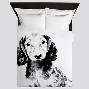 Dachshund puppy Queen Duvet