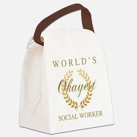 Cute Funny social worker Canvas Lunch Bag