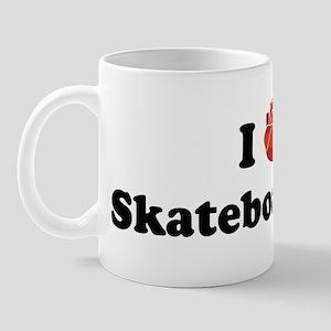 I (Heart) Skateboarding Mug