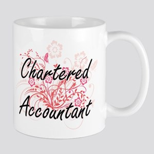 Chartered Accountant Artistic Job Design with Mugs