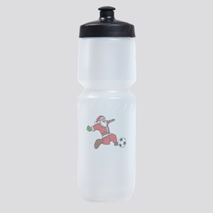 Santa claus Christmas soccer player Sports Bottle