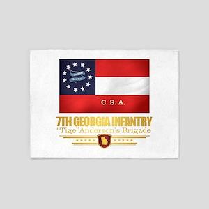 7th Georgia Infantry (v10) 5'x7'Area Rug