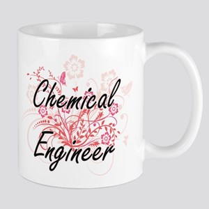 Chemical Engineer Artistic Job Design with Fl Mugs
