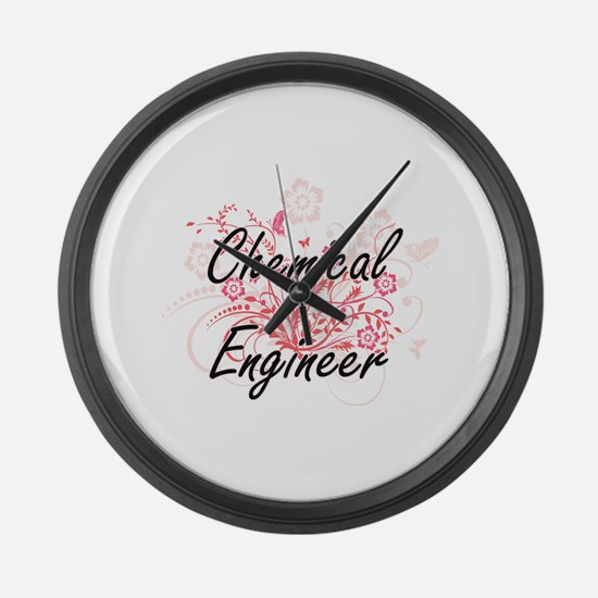 Chemical Engineer Artistic Job De Large Wall Clock