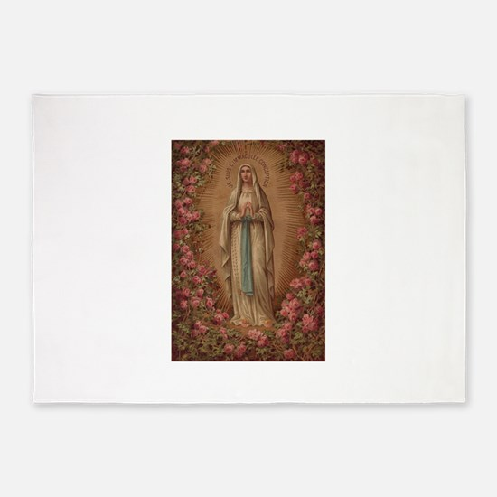 Our Lady Of Lourdes 5'x7'Area Rug