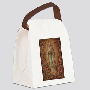 Our Lady Of Lourdes Canvas Lunch Bag