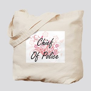 Chief Of Police Artistic Job Design with Tote Bag