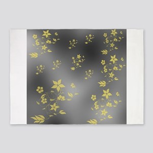 gold and silver 5'x7'Area Rug