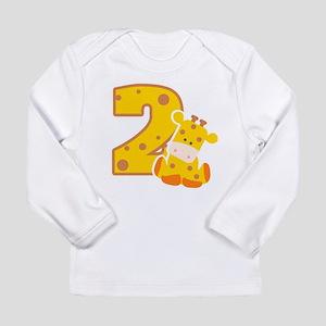 2nd Birthday Giraffe Long Sleeve Infant T-Shirt